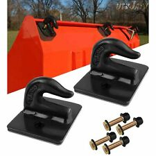 38 Bolt On Grab Hooks For Loader Tractor Bucket Heavy Duty Steel Pack Of 2