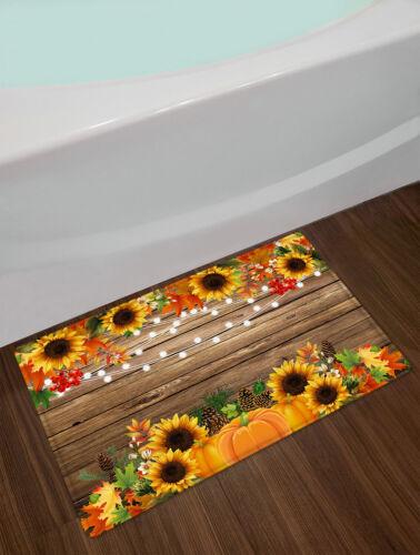 Autumn Sunflower Pumpkin Thanksgiving Party Shower Curtain Sets Bathroom Decor