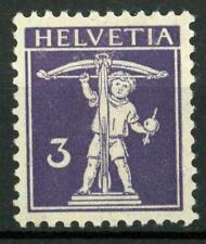 SWITZERLAND - SVIZZERA - 1909 - Walter Tell: nuovo tipo - 3 cent.