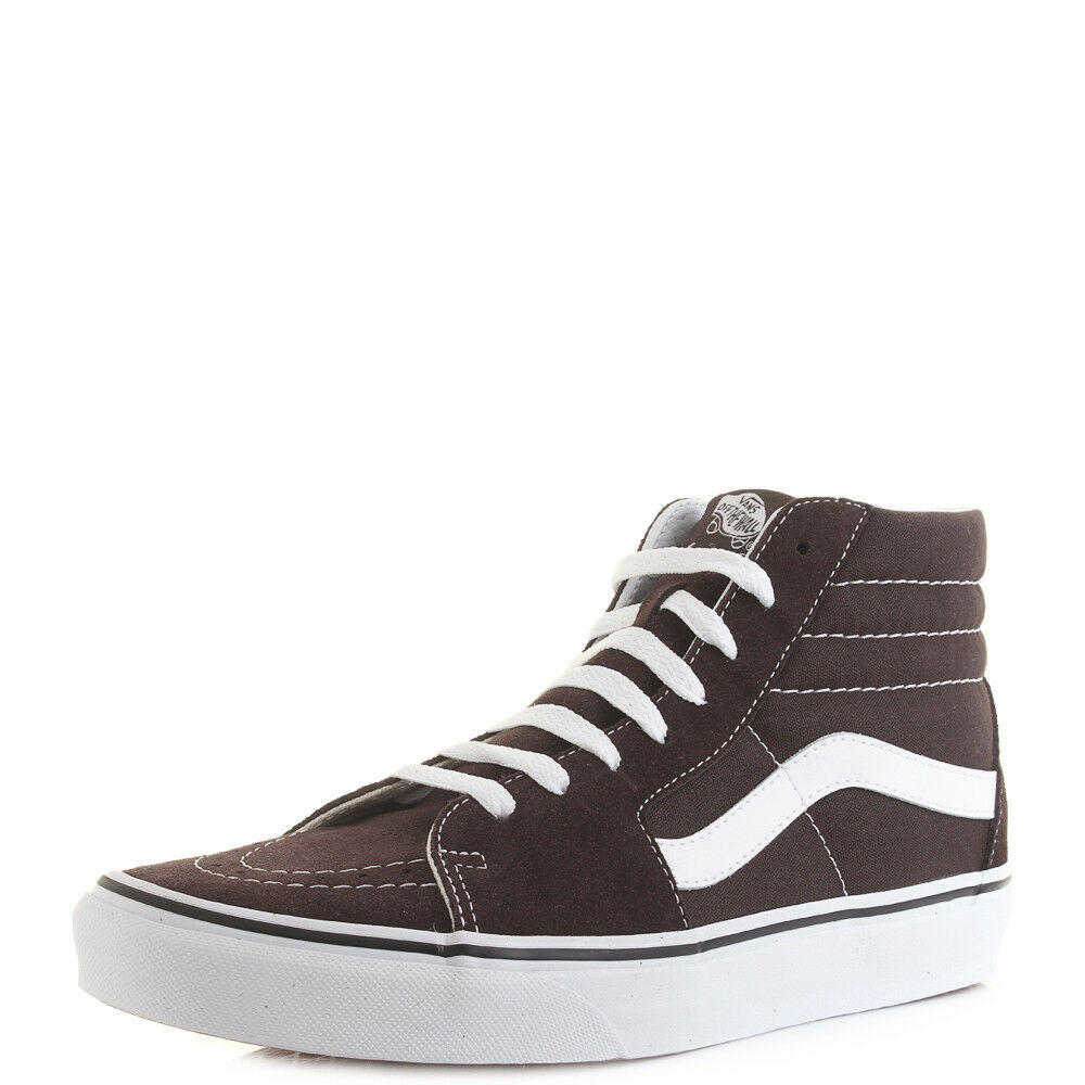 Mens Vans SK8 Hi Chocolate White Colour Theory Suede Trainers Shu Size