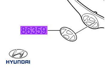 863001J500 Genuine hyundai i20 avant grille badge logo emblème