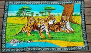 Vintage-Tigers-Tapestry-Wall-Hanging-Rug-52-x-32-Inches