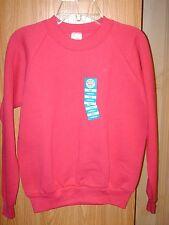 Youth Girl's Medium 8-10 Sweatshirt Hot Pink Heliconia Fruit of The Loom FOL