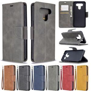 Pour-LG-K51-K61-Luxe-Flip-Support-Magnetique-En-Cuir-Portefeuille-Telephone-TPU-Case-Cover