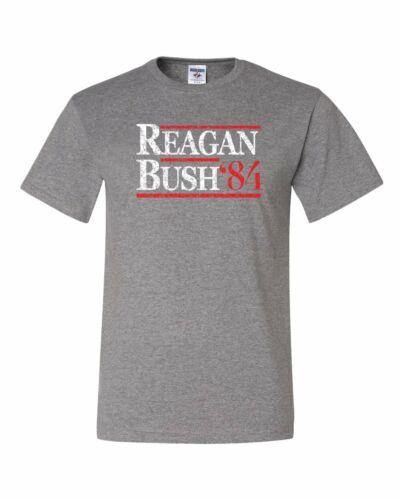 Reagan Bush /'84 T-Shirt Ronald American President History GOP Tee Shirt