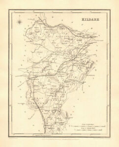 County Kildare Antique Map For Lewis By Creighton Dower Ireland