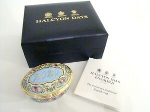 Halcyon-Days-Enamel-Annual-Year-Box-2020-with-box-and-COA-NEW-MINT