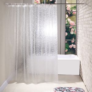 Duschvorhang 180x180 cm wasserdicht Uni Badewannen Vorhang inklusive Ringe DE