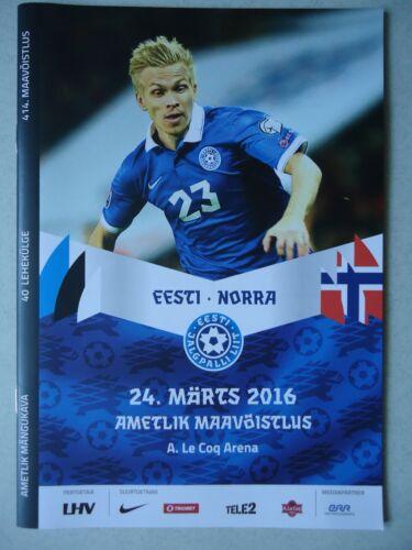 Programm LS 24.3.2016 Estland Estonia Norwegen Norway