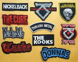 ROCK MUSIC HEAVY WOVEN BAND THRASH METAL PUNK Embroidered Patch Iron Sew Logo