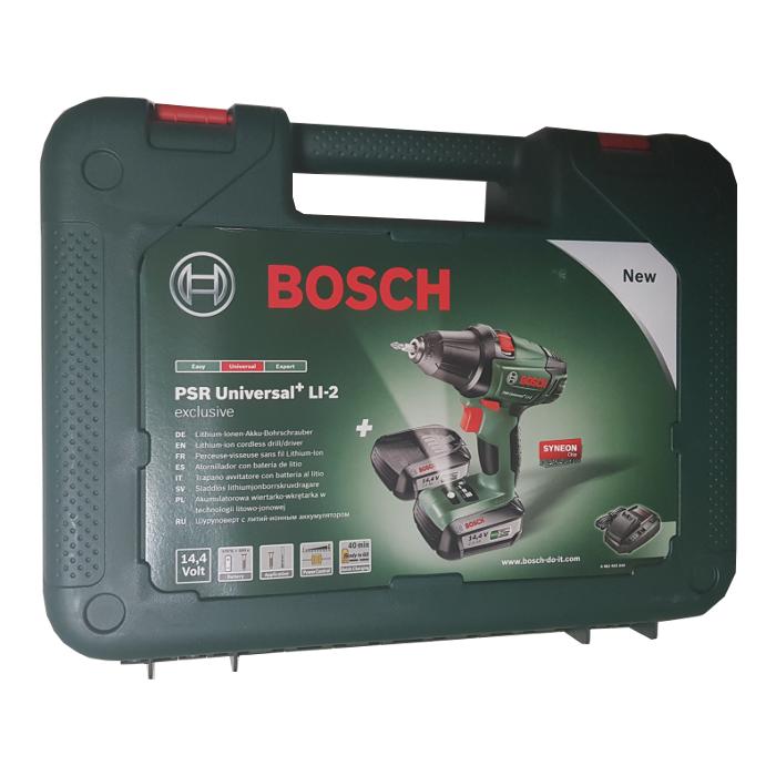 Bosch Akku-Zweigang-Bohrschrauber PSR Universal+ LI-2 inkl. 2x PBA 0603973600