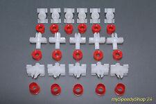 10 Klammern + 10 Stopfen Merzedes W123 Zierleisten Clips Limosine T-Modell Coupe
