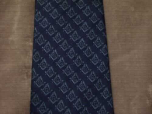 Blue Necktie Blue Square Compass Masonic Blue Lodge Freemason Fraternity NEW!