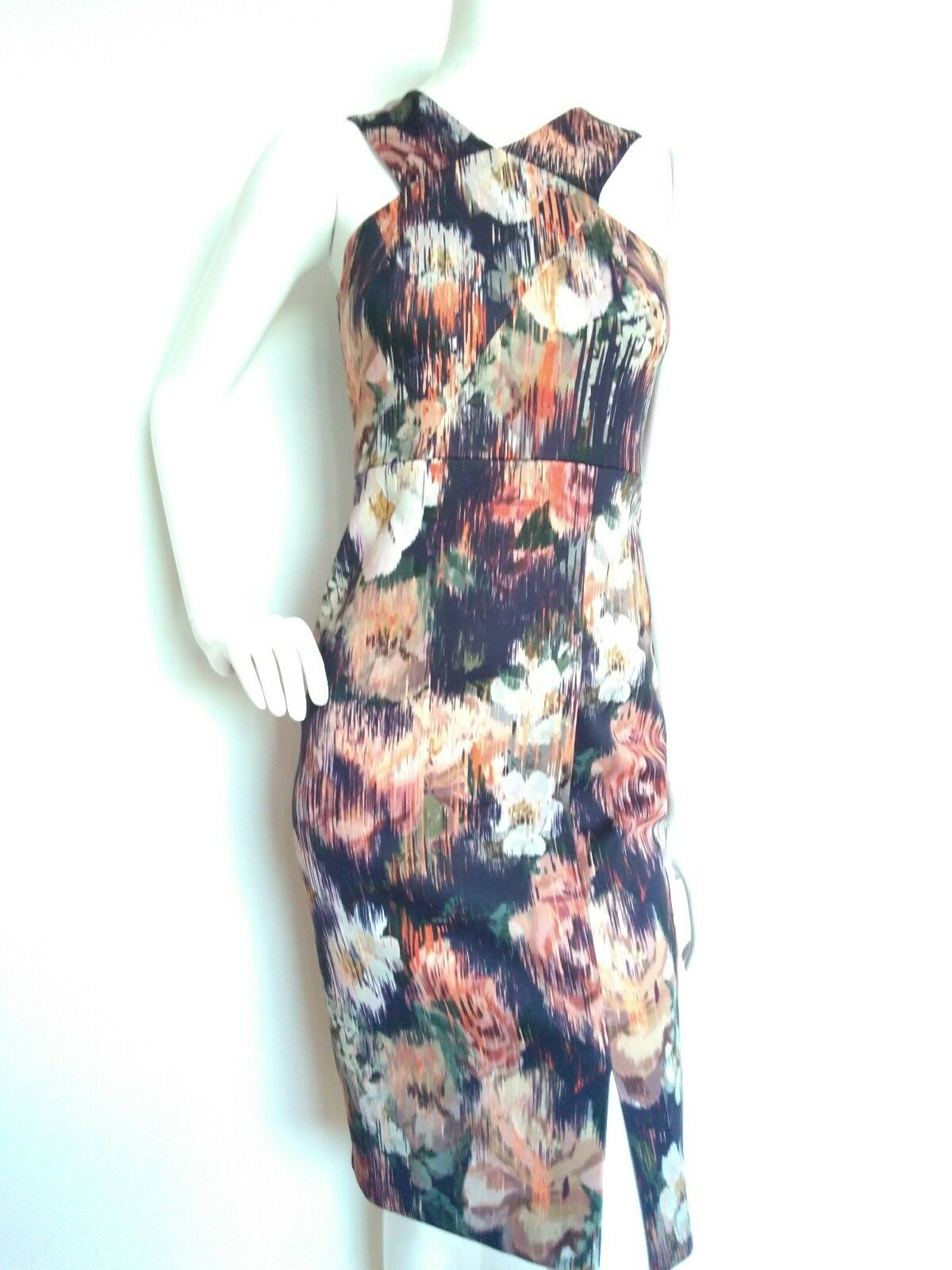 COAST floral fitted dress dress dress size 6 --BRAND NEW-- knee length sexy fit efc69c