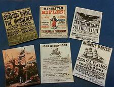 1/6 scale Civil War era Set of 6 Posters GI Joe Barbie Miniatures BOTW (2)