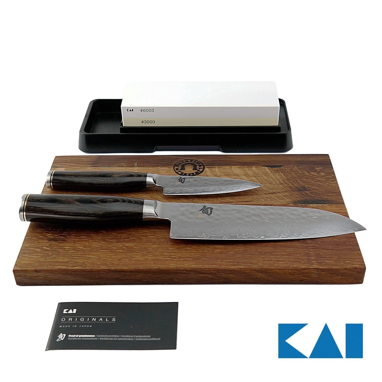 Kai Chun Tim malteurs Set, Office couteau tdm-1700; Santoku tdm-1702, AP -0316+ PLANCHE