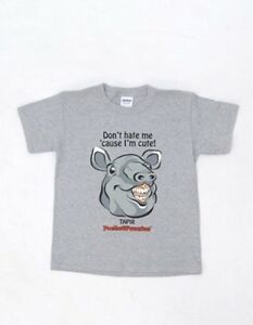LOOK-SALE-NOW-Youth-T-shirt-w-Endangered-Malayan-Tapir-Image-and-funny-saying