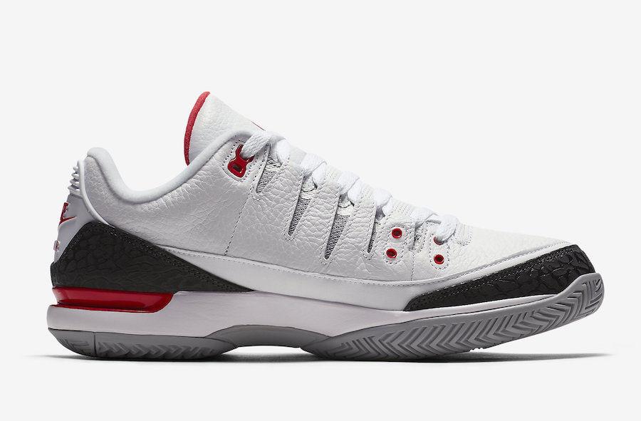 Homme Nike Zoom Vapor RF X Air Jordan 3 Tennis Chaussures 709998 106 Sz 7.5  New