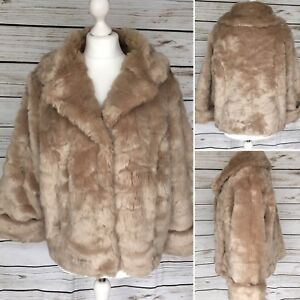 16 Blonde con M Per de tamao piel Honey cuello Una Uk chaqueta s sintᄄᆭtica de abrigo lujo Ag4qZI
