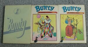 3-x-Bunty-Annuals1968-69-plus-1-unknown-Vintage-Hardback-Books-For-Girls