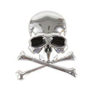 3D-Metal-Skull-Cross-Bone-Logo-Skeleton-Emblem-Car-Sticker-Motorcycle-Decal-New