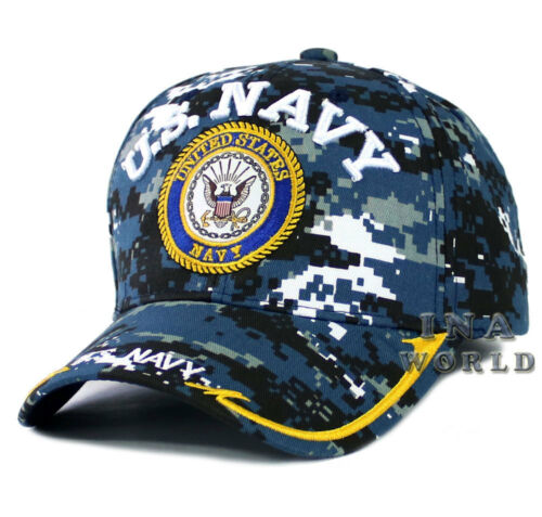 NAVY hat NAVY Logo Military Official Licensed Baseball cap U.S Navy Camouflage