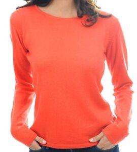 col 2 Balldiri cachemire pour femmes 100 plis Pull cachemire M orange et rond zWq0q4U