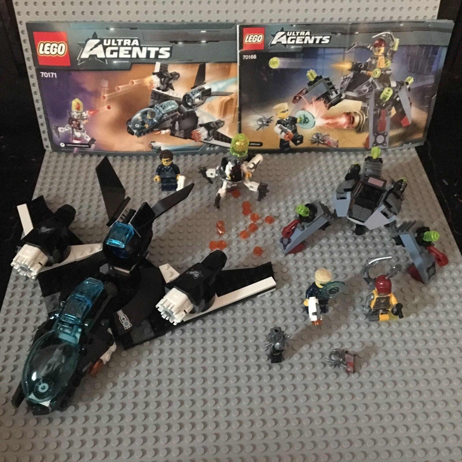 "LEGO Ultra Agents  70171 ""Ultrasonic Showdown"" &  70166  Spyclops Infiltration"