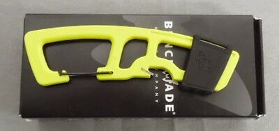 BENCHMADE KNIFE 9CB-YEL STRAP CUTTER CARABINER BOTTLE OPENER YELLOW USA MADE NEW