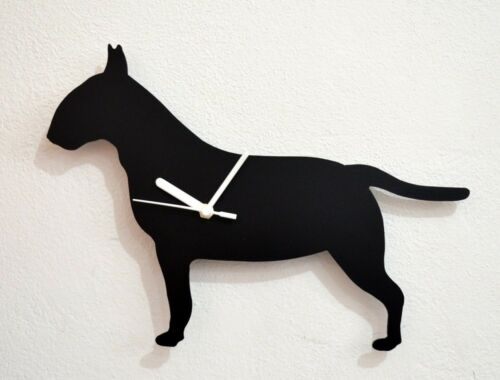 Wall Clock English Bull Terrier Dog Silhouette