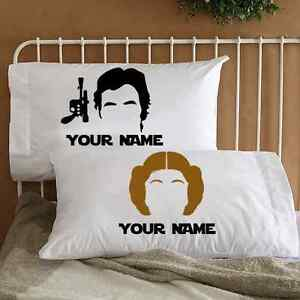 Star Wars Couple Pillowcases Personalized Bedding   Unique Gifts