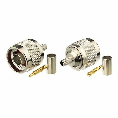 RG-223 10 pack TNC Male crimp for RG58 LMR-195 Cable 50 ohm Connector