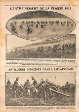 Poilus Manoeuvres Arrière du Front Officers British Army East Africa WWI 1916