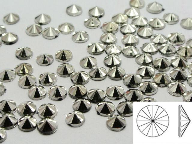 5000 Silver Acrylic Flatback Round Rivoli Rhinestone Gems 5mm Cone Shaped