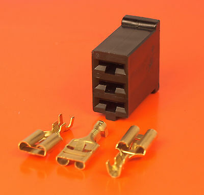 Genuine Lucas Rists 3 Way Bulkhead 9.5mm Receptacle Wiring Conector Kit 54935512