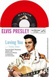 Elvis Presley  Loving You  Teddy Bear  7034 US Red Vinyl 45  New amp Unplayed - <span itemprop=availableAtOrFrom>Huddersfield, United Kingdom</span> - Returns will be accepted only by prior agreement and only if there is a dispute on the description of the items sold. My aim is to be as clear and fair as possible , but if you feel  - Huddersfield, United Kingdom