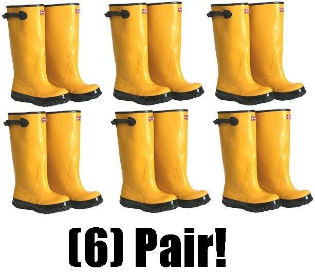 (6) pair Boss 2KP448116 Size 16 Yellow 17
