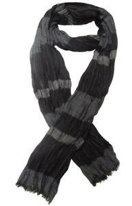 Foulard-cheche-echarpe-noir-et-gris-pour-homme-180-x-60-cm
