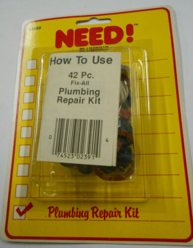 42Pc Complete Home Washer Plumbing Repair Kit Assortment DIY And Professional