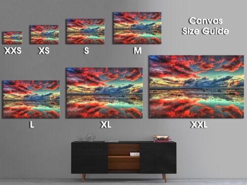 SC273 Retro Colourful Ocean Nature Landscape Canvas Wall Art Large Picture Print