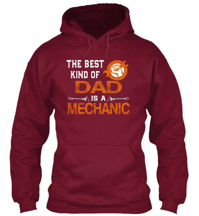 Proud To Be A A A Mechanic Dad - The Best Kind Of Is Standard College Hoodie | Sofortige Lieferung