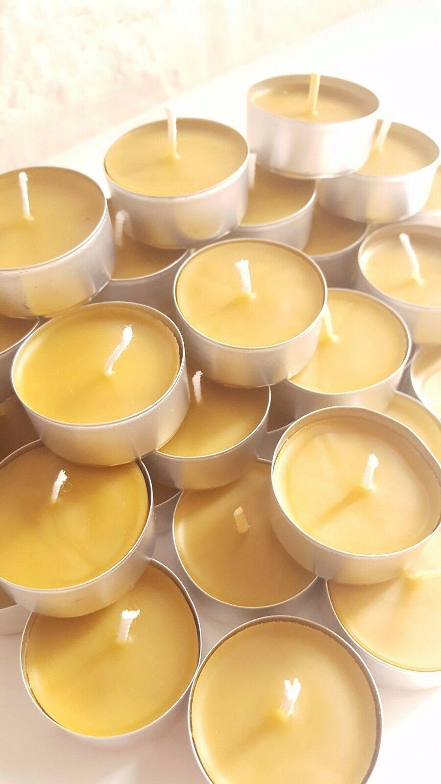 CERA D'API Lumini Cera D'Api Naturale TEA LIGHT LIGHT LIGHT CANDELE calda luce del sole l'aria purificatore 6b5f3d