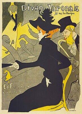 AP02 Vintage 1892 Divan Japonais Toulouse-Lautrec Theatre Poster A1//A2//A3//A4