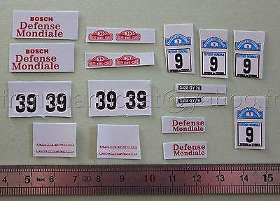 FC Véhicule miniature 1//43 decalcomanie Reanult ALPINE 1600 cevennes 9 Heco 39