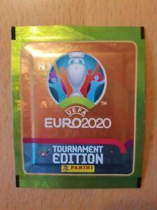 Panini Tüte Euro 2020 Tournament Lidl deutsche Kauf Version 5 Sticker 2021 RAR