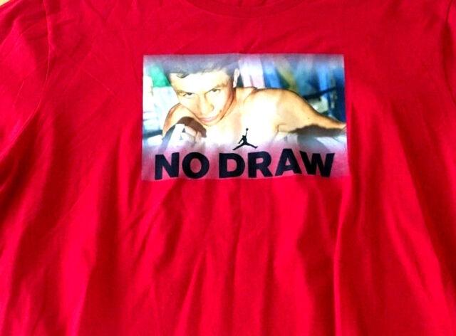 eefe02c6cdd Nike Air Jordan Boxing Gennady Golovkin GGG No Draw Shirt LARGE Red NEW  LIMITED