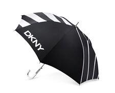 Authentic DKNY DONNA KARAN NEW YORK black white logo jumbo large UMBRELLA clear