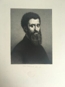 Gravur Porträt Mit Stempel Dry Friu Weler Sculp Paris 1844