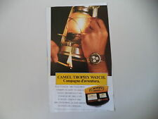 advertising Pubblicità 1988 CAMEL TROPHY WATCH