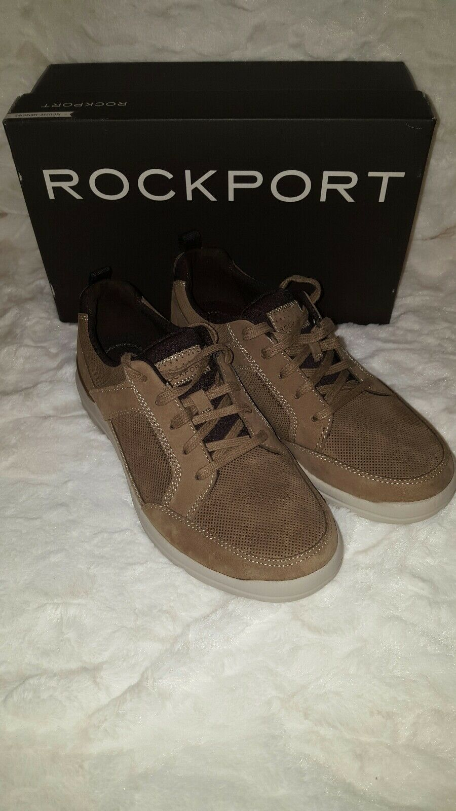 Homme Rockport City Edge Lacets paniers Taupe Nubuck paniers